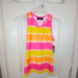 ZONE PRO GIRLS SIZE 7/8 MULTI COLOR SPORTS TOP